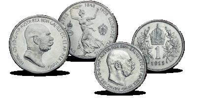 Franciszek Józef I Unikalny zestaw monet
