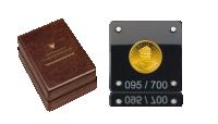 Moneta Józef Haller - kapsuła i drewniana szkatuła
