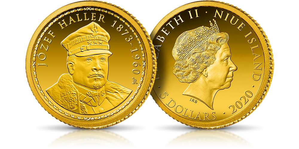 Złota moneta Generałowie II Rzeczypospolitej - Józef Haller