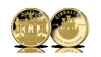 Grób Nieznanego Żołnierza na złotej monecie o wadze 1/10 uncji.