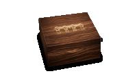 Drewniane pudełko kolekcjonerskie.