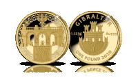 Grób Nieznanego Żołnierza na monecie wybitej w czystym złocie.