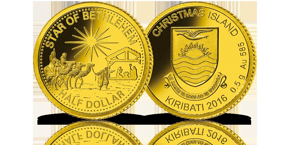 zlota-moneta-swiateczna-gwiazda-betlejemska