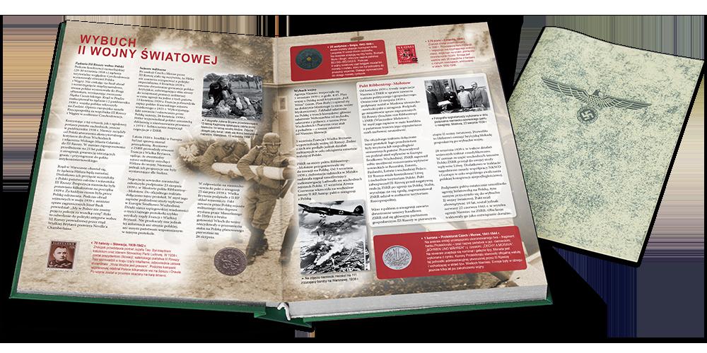 Unikalna kronika numizmatyczno-filatelistyczna ohistorii II wojny światowej