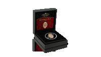 Pudełko i certyfikat do złotej monety inspirowanej jajem Faberge