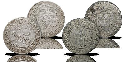 Jan III Waza i Zygmunta III Waza zestaw dwóch oryginalnych srebrnych monet ojca i syna!