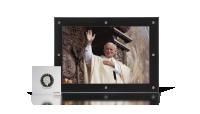 100. rocznica urodzin Jana Pawła II. Zestaw 6 srebrnych monet z reprodukcją zdjęcia.
