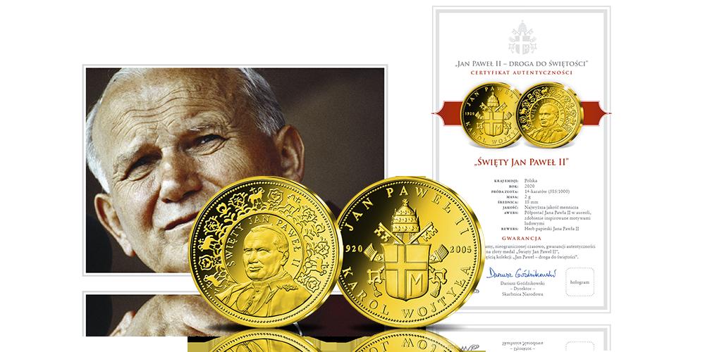 Certyfikat do medalu św. Jan Paweł II