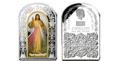 Cudowny Obraz Miłosierdzia Bożego na oficjalnej srebrnej monecie