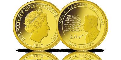 John F. Kennedy - 50. rocznica śmierci prezydenta USA uwieczniona na złotej monecie