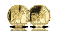 jozef-pilsudski-droga-do-niepodleglosci-numizmat-platerowany-zlotem-utworzenie-legionow-1914