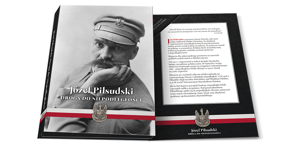 Legiony Polskie na medalu uszlachetnionym czystym złotem