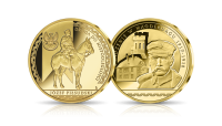 Platerowany złotem medal Osadzenie w Magdeburgu