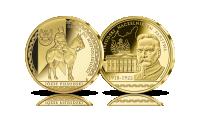 Piłsudski Naczelnikiem Państwa - platerowany złotem medal