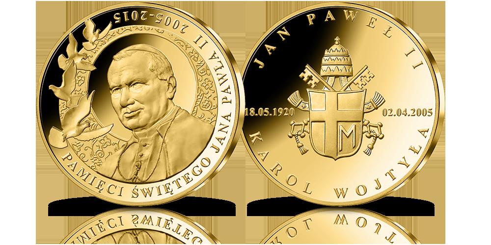 Zestaw medali okolicznościowych Józef Piłsudski Jan Paweł II