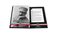 folder na medale - gratis do kolekcji Józef Piłsudski. Droga do Niepodległości