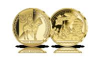 Bitwa Warszawska 1920 i wódz Józef Piłsudski - medal platerowany czystym złotem