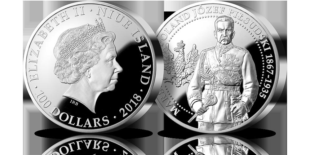Marszałek Polski Józef Piłsudski – po raz pierwszy na oficjalnej srebrnej monecie o wadze aż 1 kg!