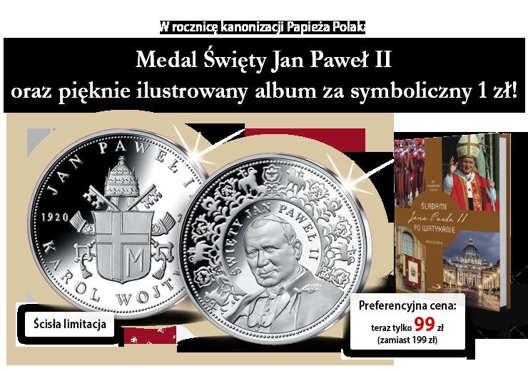 Medale upamiętniające najważniejsze wydarzenia pontyfikatu Jana Pawła II