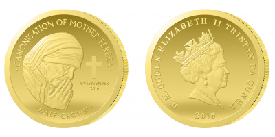 Matka Teresa uwieczniona na najmniejszej złotej monecie