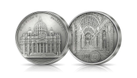 Srebrna moneta Bazylika św Piotra