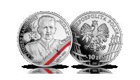 Kazimierz Kamieński na srebrnej monecie NBP.