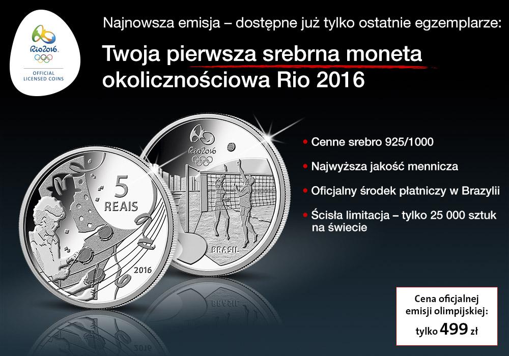 Bardzo poszukiwane srebrne monety olimpijskie Rio 2016