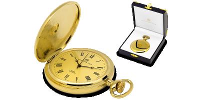 Kolekcjonerski zegarek kieszonkowy ze złotą monetą
