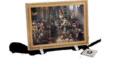 Konstytucja 3 maja - obraz Jana Matejki w jednym kg czystego srebra