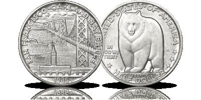 Kultowy most San Francisco na srebrnym dolarze z 1936 roku