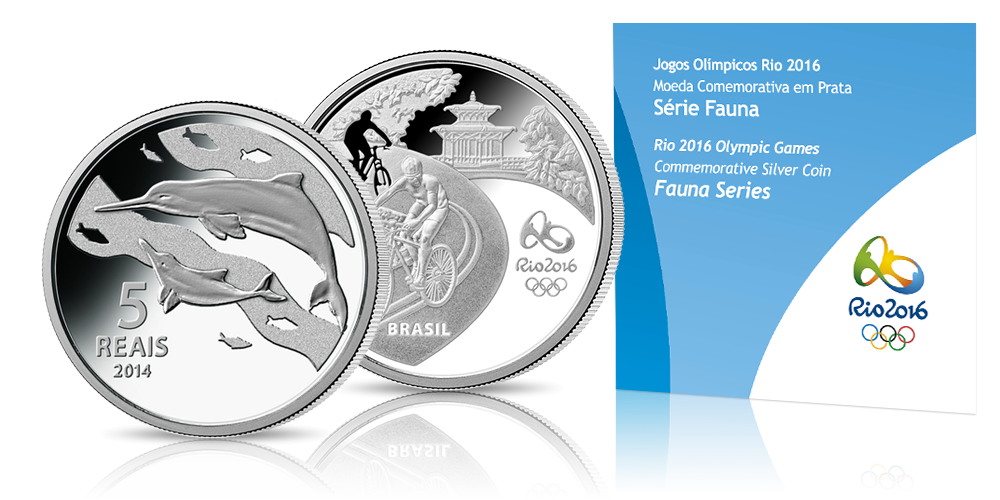 Oficjalna srebrna moneta olimpijska Rio 2016 - fauna