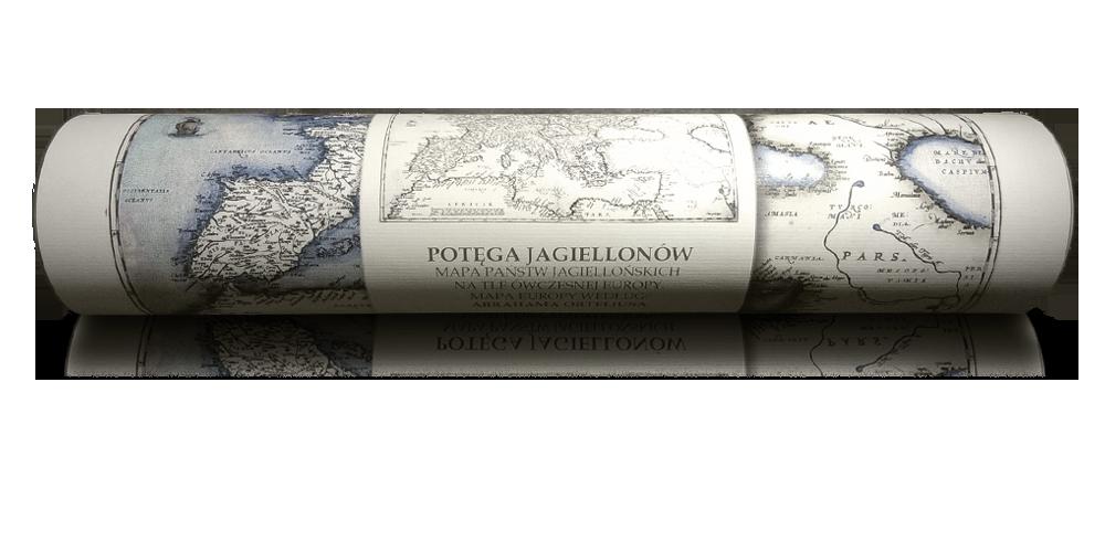 potęga jagiellonów reprint mapy xvi wiecznej europy elegancka tuba
