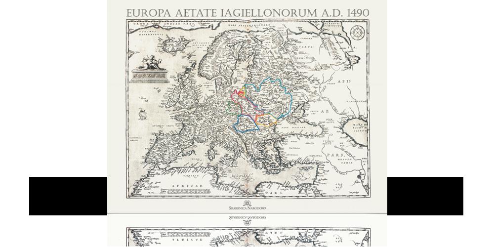 potęga jagiellonów reprint mapy xvi wiecznej europy