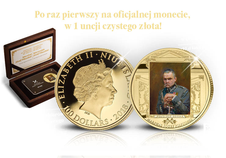 Po raz pierwszy na oficjalnej monecie, w 1 uncji czystego złota!
