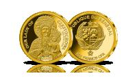 Matka Boża Częstochowska na najmniejszej złotej monecie