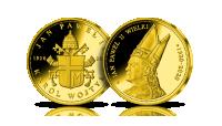 Złoty medal pamiątkowy JPII 1920-2020