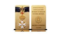 order kawalerów maltańskich platerowany czystym złotem