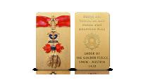 order złotego runa platerowany czystym złotem