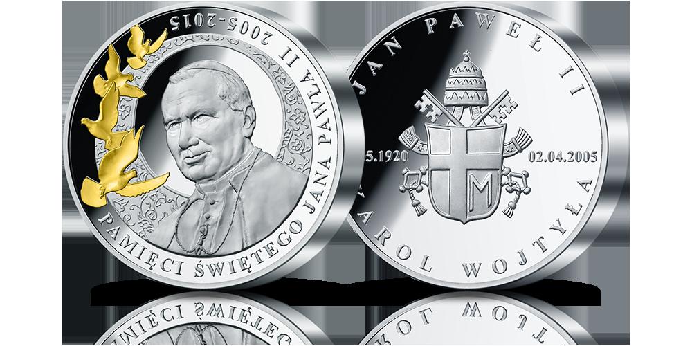 Medal pamiątkowy Pamięci Jana Pawła II - 1 kg czystego srebra