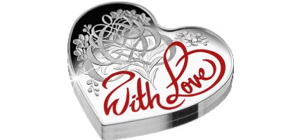 Miłość - wyjątkowa moneta w kształcie serca