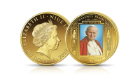moneta z czystego złota upamiętniająca wybór Karola Wojtyły na Papieża