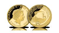 Moneta wybita ze złota pochodzącego z Laponii krainy Świętego Mikołaja