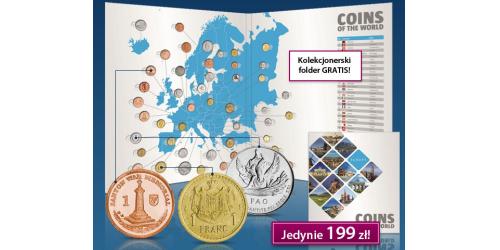 zestaw 47 oficjalnych monet Europy