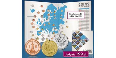 Monety Europy - zestaw 47 monet obiegowych