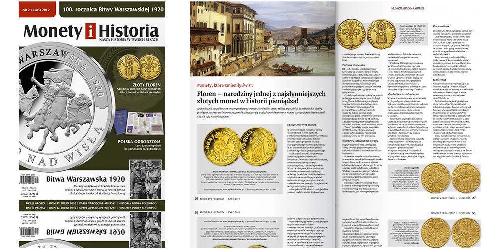 Magazyn Monety i Historia numer 2 - okładka i artykuł o florenie
