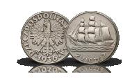 monety-obiegowe-ii-rzeczpospolitej-zaglowiec