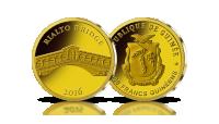 most rialto złota moneta najwyższa jakość mennicza stempel lustrzany złoto 999
