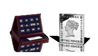 Najcenniejsze znaczki świata na medalch w czystym srebrze próby 999/1000