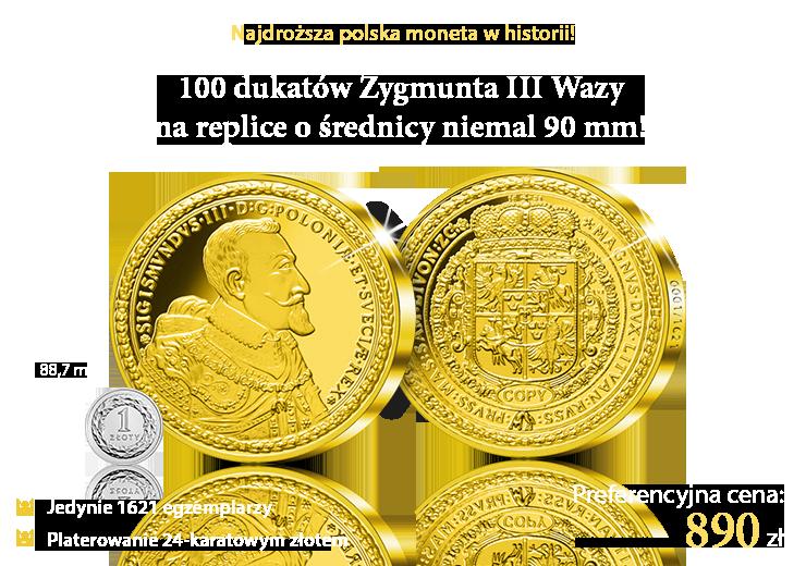100 dukatów Zygmunta III Wazy z 1621