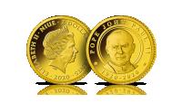 Najmniejsze Złote Monety Świata - 100. rocznica urodzin Jana Pawła II